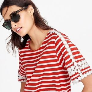 J. Crew Embroidered Lace Detail Top - NWT